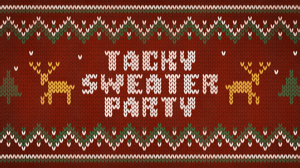 College Tacky Sweater Party