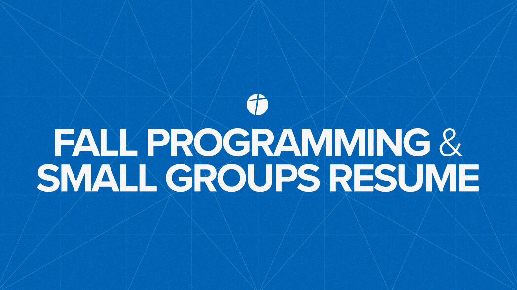 Fall Programming & Small Groups Resume